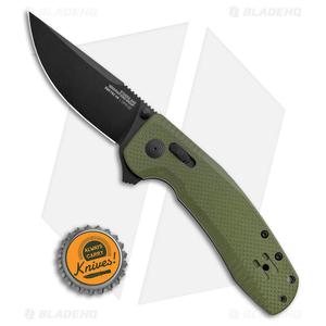 "SOG-TAC XR Lock Knife OD Green G-10 (3.4"" Black)"