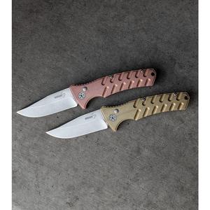 "Boker Plus Strike Brass Automatic Knife (3.25"" Stonewash)"