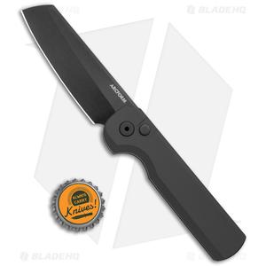 "Arcform ""Darcform"" Slimfoot Automatic Knife Black Aluminum (3.125"" Black)"