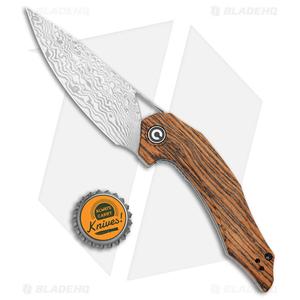 "CIVIVI Isham Plethiros Flipper Knife Sandalwood (3.45"" Damascus) C904DS-2"