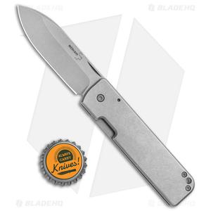 """Boker Plus Panchenko Lancer Frame Lock Knife Stainless (2.76"""" Stonewash) 01BO464"""