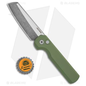 "Arcform Slimfoot Automatic Knife Green Aluminum (3.125"" Acidwash)"