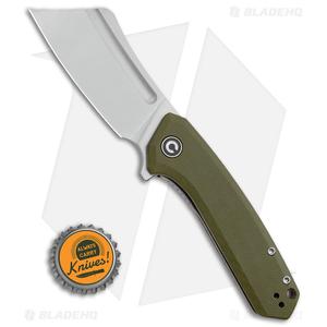 "CIVIVI Mini Bullmastiff Liner Lock Knife OD Green G-10 (3"" Stonewash)"