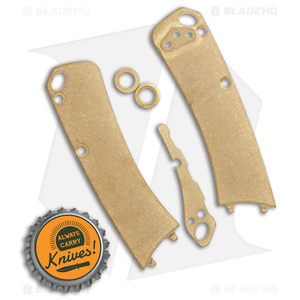 Flytanium Brass Outfit for Benchmade Mini Crooked River - Stonewash