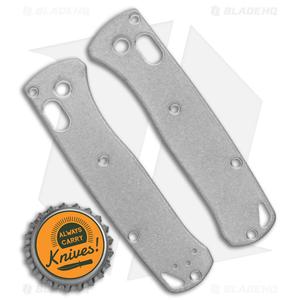 Flytanium Titanium Scales for Benchmade Mini Bugout Knife - Stonewash