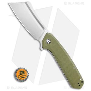 "CIVIVI Bullmastiff Liner Lock Knife OD Green G-10 (3.8"" Stonewash) C2006A"
