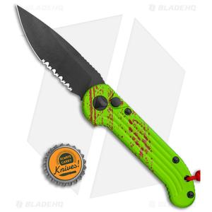 "Microtech LUDT Zombie Edition Automatic Knife (3.4"" Black Serr) 135-2Z"