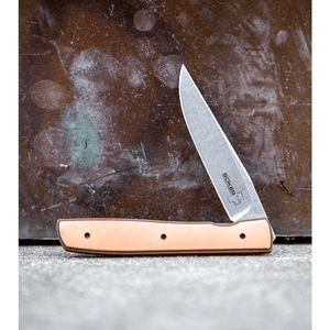 "Boker Plus Zinker Urban Trapper Knife Copper (3.5"" Stonewash)"