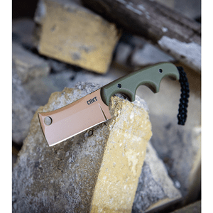 "CRKT Folts Desert Warrior Minimalist Cleaver Neck Knife (2.1"" Copper D2)"