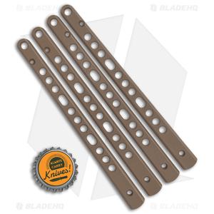 Flytanium V3 Titanium Handles for 6X Benchmade Balisong - FDE Cerakote