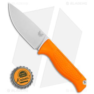 "Benchmade 15006 Steep Country Fixed Blade Knife Orange Santoprene (3.5"" SW)"