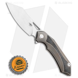 "Bestech Knives Kasta Frame Lock Knife Gray Ti (3.5"" Satin M390)"