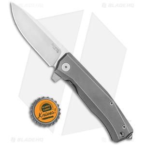 "LionSteel Myto Flipper Frame Lock Knife Gray Titanium (3.25"" Satin) MT101GY"