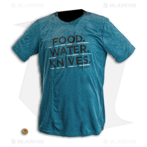 Benchmade Food. Water. Knives. T-Shirt - Blue