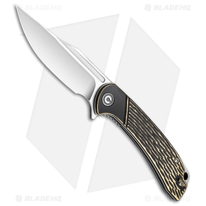 "CIVIVI Dogma Liner Lock Knife Brass (3.5"" Stonewash) C2014A"