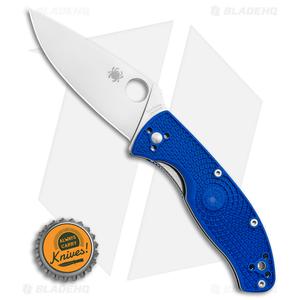 "Spyderco Tenacious Lightweight Blue FRN Knife (3.4"" Satin S35VN) C122PBL"