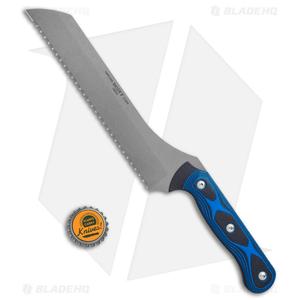 "TOPS Knives Dicer 7 Bread Knife 7.6"" Black/Blue G-10"