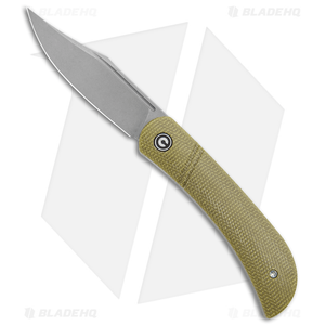 "CIVIVI Appalachian Drifter Slip Joint Knife Olive Micarta (2.9""SW) C2015B"