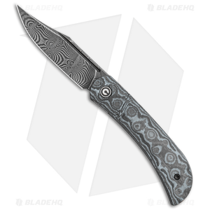 "CIVIVI Appalachian Drifter Knife Gray G-10 w/ Rose CF (2.9"" Damascus) C2015DS-1"