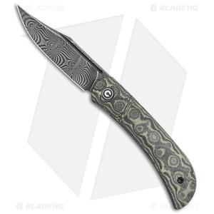 "CIVIVI Appalachian Drifter Knife Yellow G-10 w/ Rose CF (2.9"" Dam) C2015DS-3"