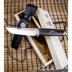 "Rockstead DON-T-ZDP Fixed Blade Knife Ebony/Fish (5.25"" Mirror)"