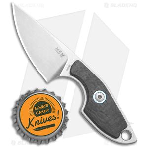 "MKM Voxnaes Mikro 1 Fixed Blade Knife Carbon Fiber (2"" SW)"