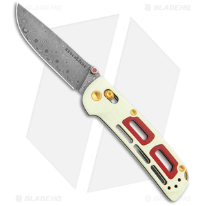 Benchmade Nakamura Limited Edition Saibu AXIS Lock Knife Ivory/Crimson G-10