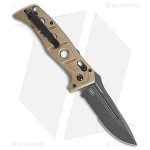 "Benchmade Adamas Automatic Knife Desert Tan G-10 (3.8"" Gray Serr) 2750SGY-3"