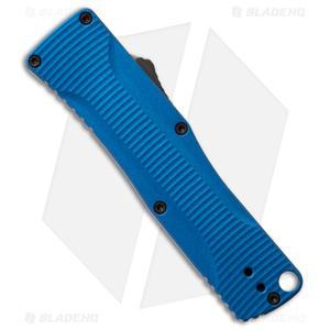 "Benchmade Om D/A OTF Automatic Knife Blue Alum. (2.5"" Black DLC) 4850BK-1"