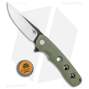 "Bestech Knives Arctic Liner Lock Knife Green G-10 (3.5"" Two-Tone) BG33B-1"
