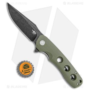 """Bestech Knives Arctic Liner Lock Knife Green G-10 (3.5"""" Black) BG33B-2"""