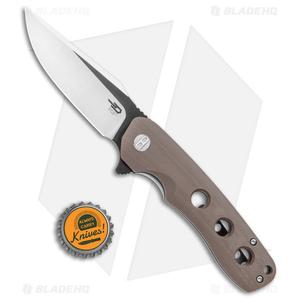 "Bestech Knives Arctic Liner Lock Knife Brown G-10 (3.5"" Two-Tone) BG33D-1"