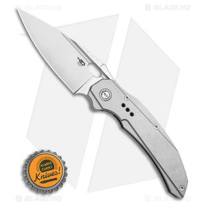 "Bestech Knives Exploit Frame Lock Knife Gray Titanium (3.5"" Satin) BT2005A"