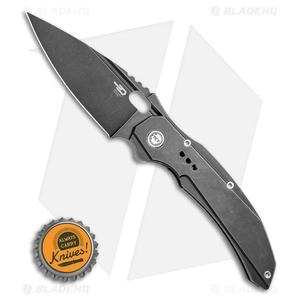"""Bestech Knives Exploit Frame Lock Knife Black Titanium (3.5"""" Black SW) BT2005C"""