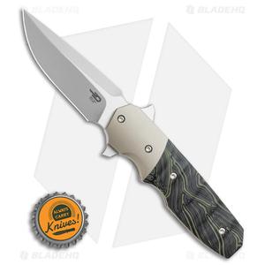 "Bestech Knives Clark Freefall Liner Lock Knife Green / Black (2.8"" Two-Tone)"