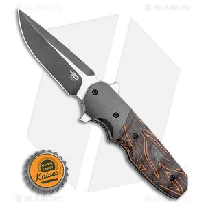 "Bestech Knives Clark Freefall Liner Lock Knife Orange / Black (2.8"" Two-Tone)"