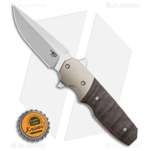 "Bestech Knives Clark Freefall Liner Lock Knife Brown / Black (2.8"" Two-Tone)"