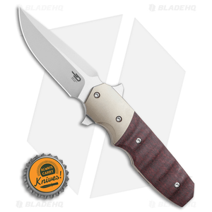 """Bestech Knives Clark Freefall Liner Lock Knife Red / CF (2.8"""" Two-Tone)"""