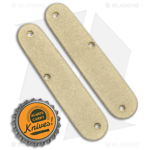 Flytanium Custom Brass Scales for Victorinox Cadet Swiss Army Knife (84mm)