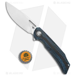 """Bestech Knives Falko Liner Lock Knife Blue G-10/CF (3.8"""" Satin 154CM)"""