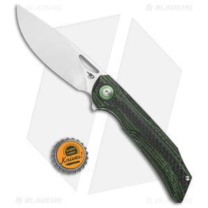 """Bestech Knives Falko Liner Lock Knife Green G-10/CF (3.82"""" Satin 154CM)"""