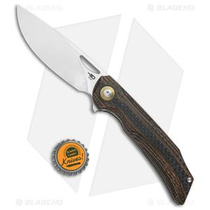 """Bestech Knives Falko Liner Lock Knife Orange G-10/CF (3.82"""" Satin 154CM)"""