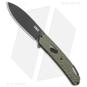 """CRKT Onion Bona Fide Field Strip Knife OD Green (3.18"""" Black) K540GKP"""