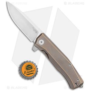 "LionSteel Myto Flipper Knife Bronze Titanium (3.25"" Satin) MT01BR"