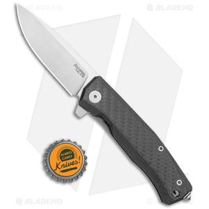 "LionSteel Myto Flipper Knife Carbon Fiber Titanium (3.25"" Satin) MT01CF"