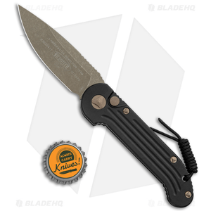 """Microtech LUDT Automatic Knife Black (3.4"""" Bronze Apocalyptic) 135-13AP"""