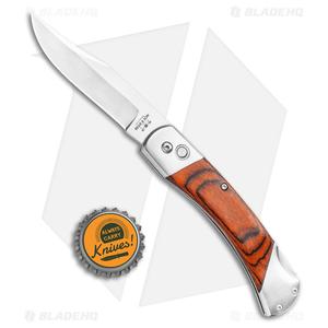 "Bear and Son Automatic Lockback Knife Rosewood  (3.5"" Satin)"