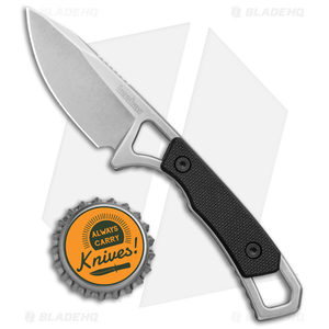 """Kershaw Brace Neck Knife Fixed Blade (2"""" Stonewash) 2085"""