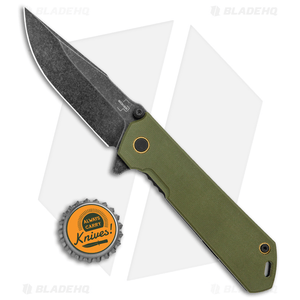 "Boker Plus Kihon Spring Assisted Knife Green G-10 (3.5"" Black SW ) 01BO164"