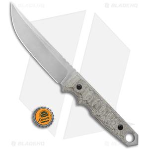 "Fox Knives Ryu Fixed Blade Knife Green Micarta (5.3"" Stonewash) 02FX745"